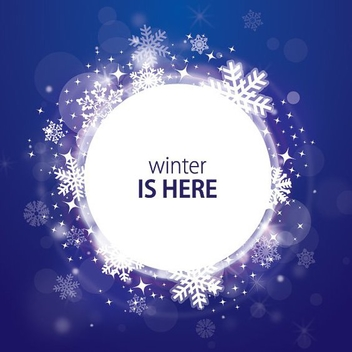 White Winter Message Banner - Free vector #201543