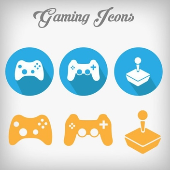 Free Vector Gaming Icons - vector gratuit #201783