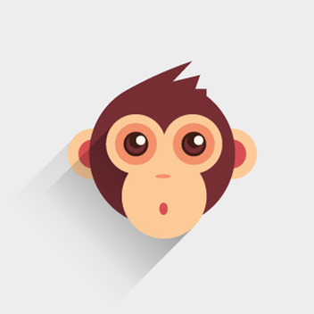 Free Vector Baby Monkey - Free vector #201803