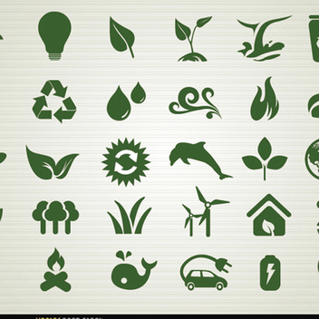 Environmental Vector Icon Pack - vector #201863 gratis
