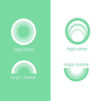 Free Modern Green Circle Logo Vectors - бесплатный vector #201883
