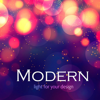 FREE MODERN COLORFUL BOKEH BACKGROUND VECTOR - vector gratuit #201993