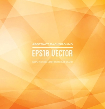 Modern Yellow Geometric Background Vector - Free vector #202073