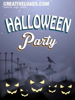 Halloween Vector Party Flayer - бесплатный vector #202163
