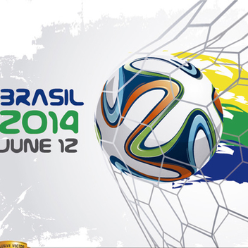 Brasil 2014 World Cup Soccer Vector - Free vector #202213
