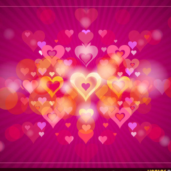 Free Vector Valentine's Heart Background - Kostenloses vector #202323