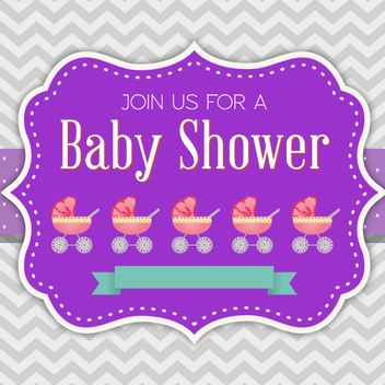 Baby Shower Invitation Vector - Free vector #202343
