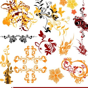 Free Vector Swirls and Flourishes - Free vector #202593