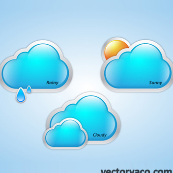 Free Vector Weather Clouds - vector gratuit #202623