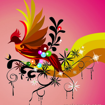 Free Vector Bird Wallpaper - бесплатный vector #202633