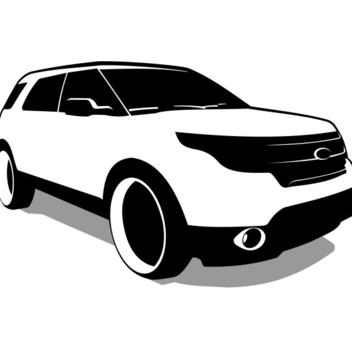 Free Vector SUV - Ford Explorer Vector - бесплатный vector #202653
