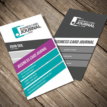 Colorful Vertical Business Card Template - бесплатный vector #202743