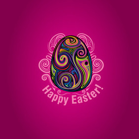 Happy Easter - vector gratuit #202853