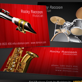 Musicians Business Card Vector - Free vector #202993
