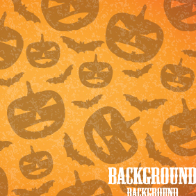 Halloween Pumpkins Background - vector gratuit #203053