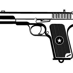 Gun Vector Clip Art - Free vector #203083