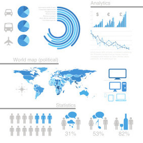 Free Vector Infographic Design Elements - vector gratuit #203203