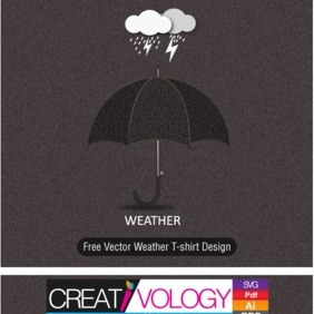 Free Vector Weather T-shirt Design - бесплатный vector #203223