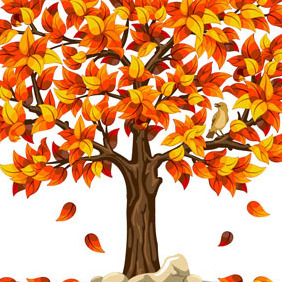 Brown Tree On White - vector gratuit #203253
