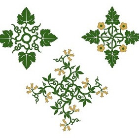 Floral Ornamental Designs - Free vector #203403