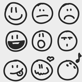 Free Vector Of The Day #150: Sketchy Emotion Icons - Free vector #203443