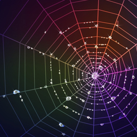 Colorful Spider Web - vector gratuit #203453