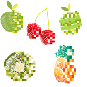 Fruit Logos 1 - vector gratuit #203513