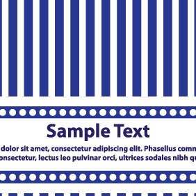 Blue And White Lines Card Design - vector gratuit #203633