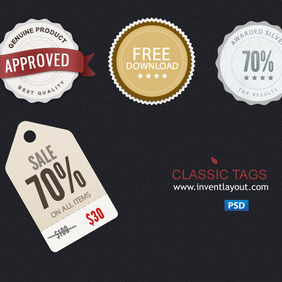 Tags PSD 1 - Free vector #203733