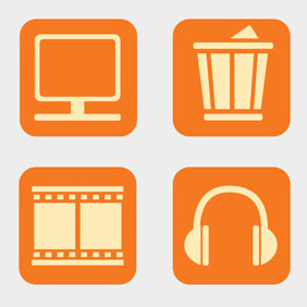 Free Vector Of The Day #108: Desktop Icons (Part 2) - Kostenloses vector #203793