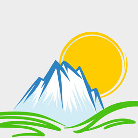 Free Vector Of The Day #98: Mountain Emblem - Kostenloses vector #203843