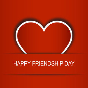 Friendship Day Heart - Free vector #203893
