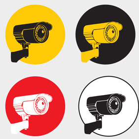 Free Vector Of The Day #83: Surveillance Cameras - бесплатный vector #204013