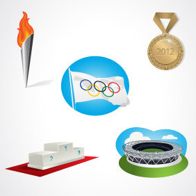 Olympic Elements Vector - бесплатный vector #204073