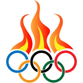 Olympic Flames Vector - бесплатный vector #204093