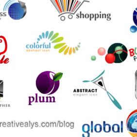 Glossy Creative Logo Designs - Free vector #204243