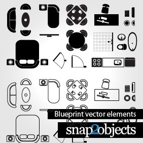 Blueprint Vector Elements - vector #204313 gratis
