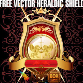 Great Free Vector Heraldic Shield - Kostenloses vector #204393