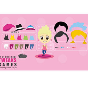 Dress Up Girl Vectors Pack - vector #204463 gratis