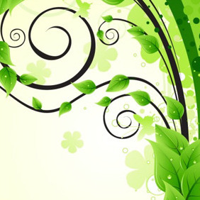 Nature Swirl Design Element - vector gratuit #204473