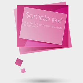 Free Vector Of The Day #48: Web Banner Speech Bubble - Kostenloses vector #204523