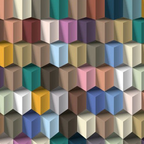 Cube Geometric Background - Free vector #204603
