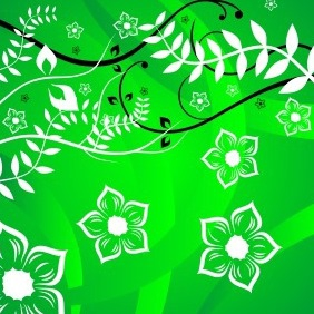 Abstract Flower Background - Free vector #204613