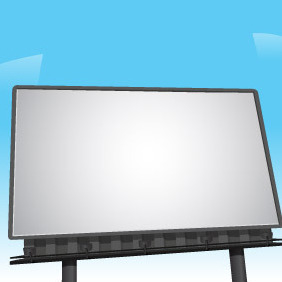 Billboard Vector By VectorOpenStock - бесплатный vector #204793