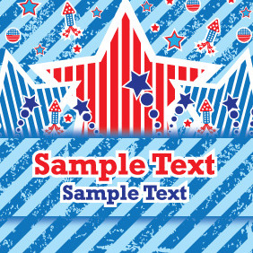 Fourth Of July Celebration Vector Card - vector gratuit #204873