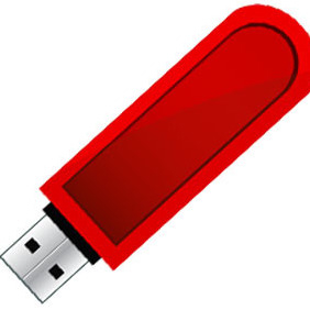 USB Flash Drive Free Vector - vector gratuit #205003