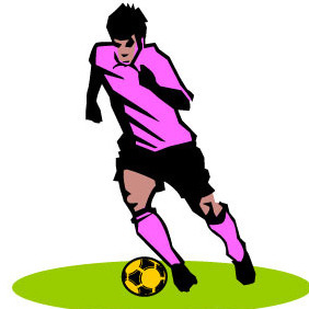 Football Player - vector gratuit #205023