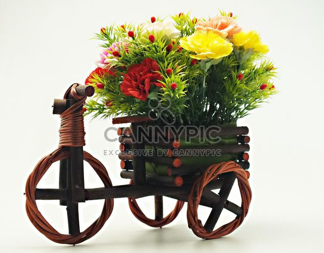 #onbycicle #mylastphoto, Decorative bicycle with flowers - image gratuit #205083