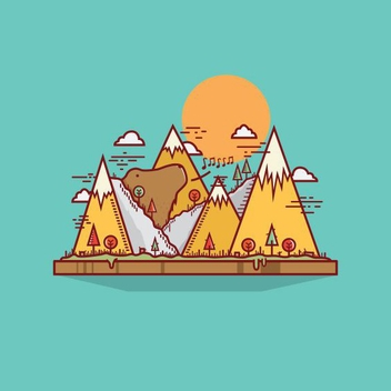 Mountain Bear Song - vector gratuit #205223