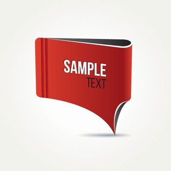 Red Banner Design - vector #205263 gratis
